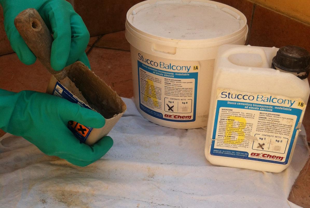 Preparation of STUCCO BALCONY