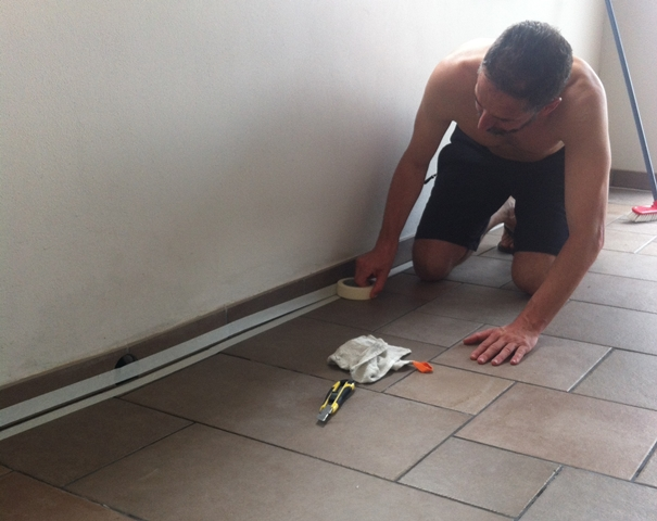 Preparación del sellado de la conexión