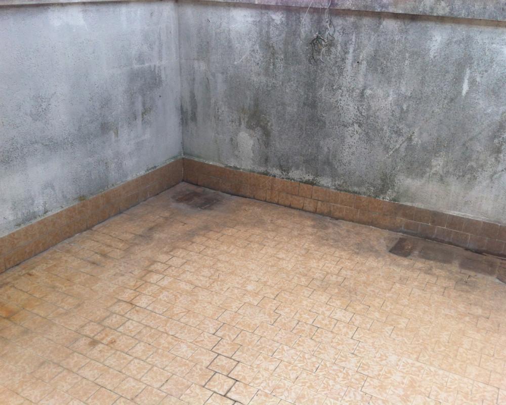 La terrazza prima dell'impermeabilizzazione
