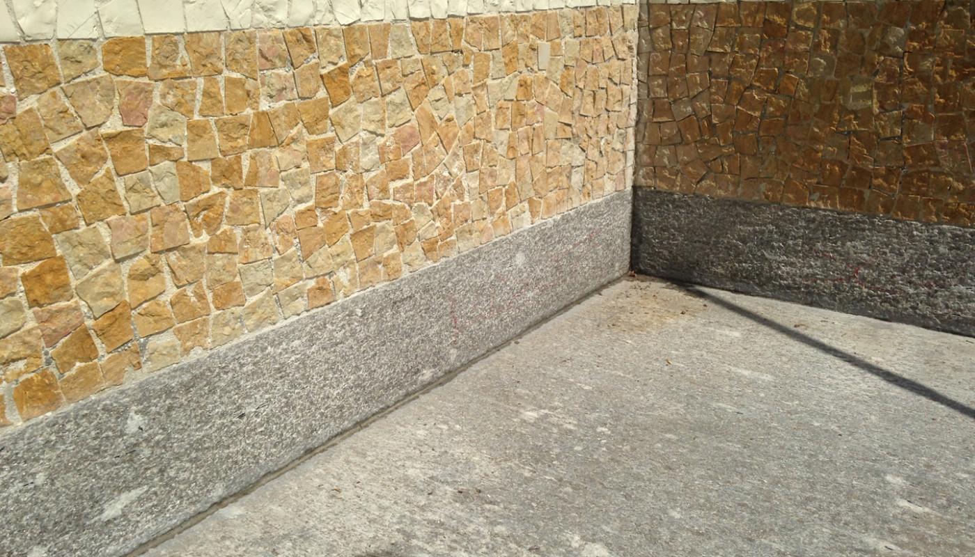 Fessure e connessioni stuccate